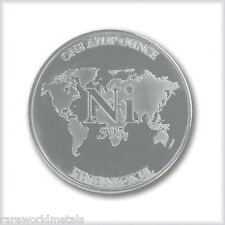 Nickel Round - Rare World Metals Mint - one AVDP ounce - .995 bullion - 1 oz