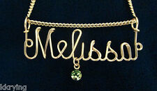 14KT GOLD-FILLED HAND-MADE NAME NECKLACE or PENDANT
