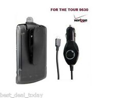 Verizon Holster Belt Clip&Car Charger 4 Blackberry Tour