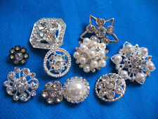 10 Sparkling Clear Crystal Rhinestone Button-Mix lots