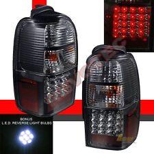 96-00 Toyota 4Runner SR5 Base Black LED Tail Lights Lamps w LED Reverse 1 Pair