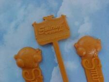 3 Vintage SMIRNOFF VODKA SCREWDRIVER Swizzle Sticks Excellent Condition