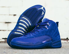 2016 Nike Air Jordan 12 XII Retro Blue Suede 9. 130690-400 Flu game taxi wool