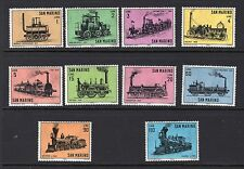 San Marino 1964 #594-603, Locomotive set of 10 - MNH