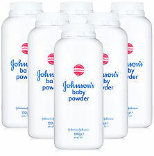NEW 6X JOHNSON'S BABY POWDER ORIGINAL 100G - CLINICALLY TESTED - TRAVEL SIZE