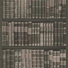 Rasch Carta da parati pattern Libro Scaffale Libri Libreria Custodia in Ecopelle con trama effetto ROLL