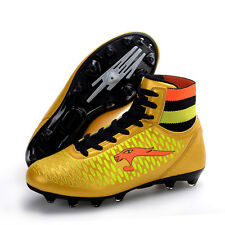High Top Fashion Mens Soccer Training Sports Nail Heel Lace Up Football Shoes