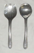 "Arthur Court Elephants 11"" Salad Servers Fork & Spoon"