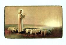 ANTICO SANTINO  GESU' BUON PASTORE IMAGE PIEUSE - HOLY CARD SANTINI