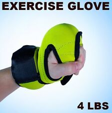 New Yellow Neoprene 4 lbs Weighted Gloves Exercise Workout Boxing Training Glove