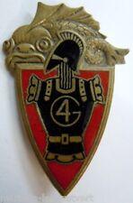 Insigne 4° Régiment du Génie Drago Paris H 211 émail  original
