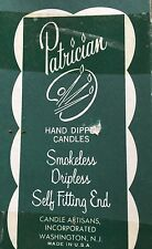 "NIB PATRICIAN HAND DIPPED DRIPLESS CANDLES PINK 10"" BOX OF 10"