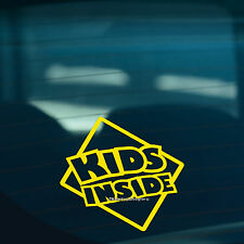 KIDS INSIDE S2 Children On Board Warning Funny Car,Window Sign Vinyl Sticker