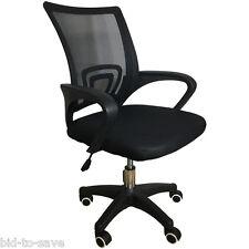 Felji Ergonomic Mesh Computer Office Desk Midback Task Chair Black NEW