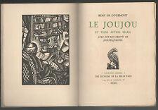 Remy.de GOURMONT:Le Joujou et 3 autres Essais.10 bois gravés de J.Quesnel.E.O.