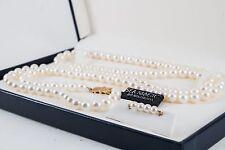 """Sea Magic by Mikimoto 33"""" Cultured Pearl & 14K Gold Necklace w/COA"""