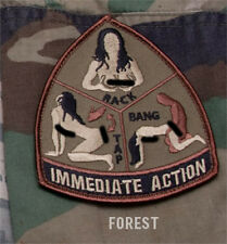 Mil-Spec Monkey IMMEDIATE ACTION morale patch hook back FOREST tap rack bang