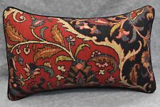 Pillow made w Ralph Lauren Poet's Society Burgundy Tapestry Fabric 20x12 /  cord