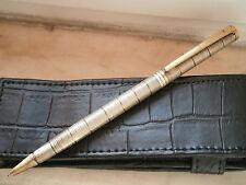 MECAN PENNA A SFERA ARGENTO 925 E PL. ORO Silver Sterling Ball Pen '05 ORIGINALE