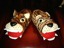 Super Size Small 5 to 8 Tiger Head 3D Padded Slippers Fab Christmas Gift BNWT