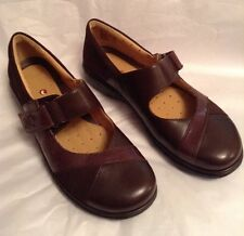 New��CLARKS��UK 4.5 ARTISAN UN SWAN UN-STRUCTURED LEATHER MARY JANES Brown 37.5