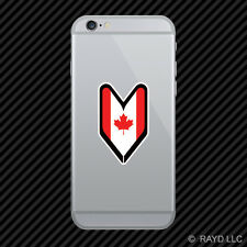 Canadian Driver Badge Cell Phone Sticker Mobile wakaba leaf soshinoya canada