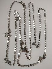 "Silpada Sterling Silver Small Disc Confetti Cha Cha Necklace 46"" long"