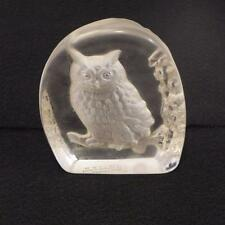 Wedgwood Crystal Owl Made in England for the Danbury Mint paperweight
