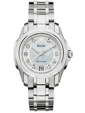 Bulova 96P115 Precisionist Mother Of pearl Ladies Diamond Watch New Tag $599