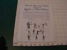 vintage paper: TSR & the Old Guard LEGIONS of the PETAL THRONE double sided 1977