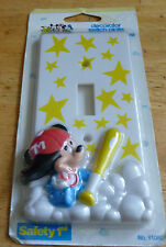 Walt Disney Wall Plate Electric Light Switch Cover - Mickey with Baseball Bat !