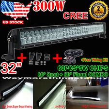 """CREE 32Inch 300W LED Curved Light Bar Flood Spot Combo Offroad Jeep ATV 4WD 30"""""""
