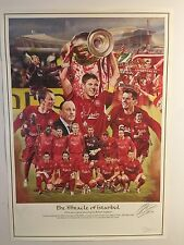 The Miracle Of Istanbul signed by Jamie Carragher & John Arne Riise. Liverpool