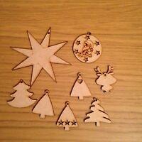 Wooden Mixed Xmas Tree Decoration Christmas Decor. Mdf