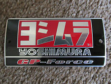 Yoshimura Aluminium GP Force Exhaust Plate Badge Sticker