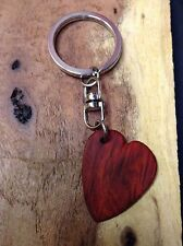 Red Heart wood Key Chain Guitar Pick by Robinson Wood Pick's