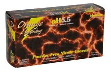 Orange Lightning 6 mil Powder Free Nitrile Gloves Large 10/100/CS, 6mil