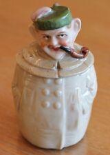 très ancien moutardier en porcelaine ou faïence