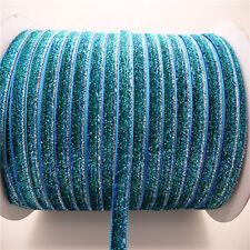 "NEW DIY 5yards 3/8"" 10mm Sparkle Glitter Velvet Ribbon Headband Clips Bow UP22"