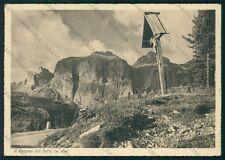 Trento Campitello di Fassa Gruppo Sella PIEGHINA FG cartolina VK2803