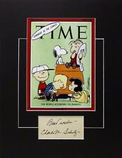 *CHARLES SCHULZ SIGNED PHOTO AUTHENTIC AUTOGRAPH CHARLIE BROWN PEANUTS ARTIST*