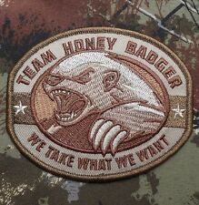 TEAM HONEY BADGER MILITARY TACTICAL USA ARMY MORALE BADGE MULTICAM VELCRO PATCH