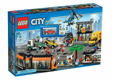 LEGO City Town 60097 City Square Building Kit 1683 Pcs Tram Bike Car Cab Truck