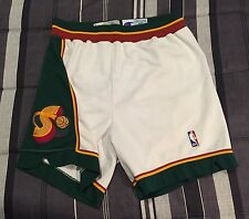 VTG 90s Seattle Supersonics Champion Team-Issued Sewn Basketball Jersey Shorts