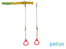 TRIANGULAR GYM RINGS RED For Kids Swing Seat Set Playground Accessories Fun