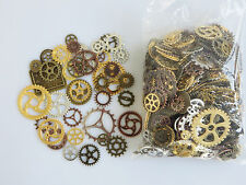 50 x Mixed Steampunk Cogs and Gears Clock Hand Charms Silver Bronze Gold Copper