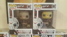 Funko Pop Vinyl 01 Jason Voorhees Glow Chase Edition Figure Friday The 13th Lot