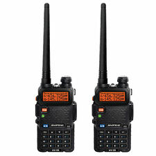 2pcs Baofeng UV-5R Handheld FM Dual Band VHF/UHF Two way Walkie Talkie Radio KF