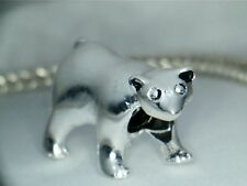 SILVER PLATED POLAR  BEAR  #1  SPACER BEAD CHARM ** SEE MY STORE FOR MORE