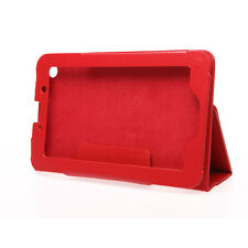 Red PU Leather Stand Case Folios Cover Protector for Lenovo IdeaTab A3000 Tablet